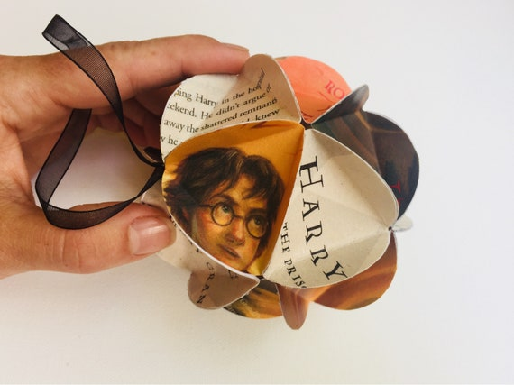 Harry Potter Book Christmas Ornament Recycled Books Tree Etsy