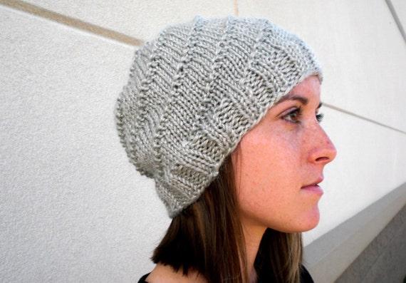 Knit Spiral Beanie Knitted Women s Hat Soft Winter Hat  bd29731b255