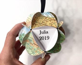 Map Ornament Personalization for Brittany E.