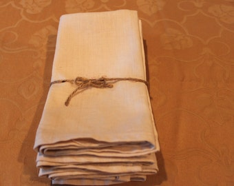 SET OF 4 // Naturally Dyed Linen Placemats