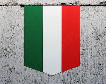 "Flag of Italy sticker - 2"" x 2.5"" - Vinyl Decal Car Italian Emblem Badge"