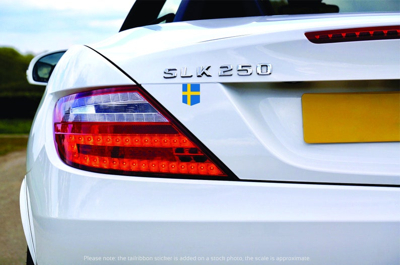 Flag of the Sweden sticker  2 x 2.5  Car Decal image 0