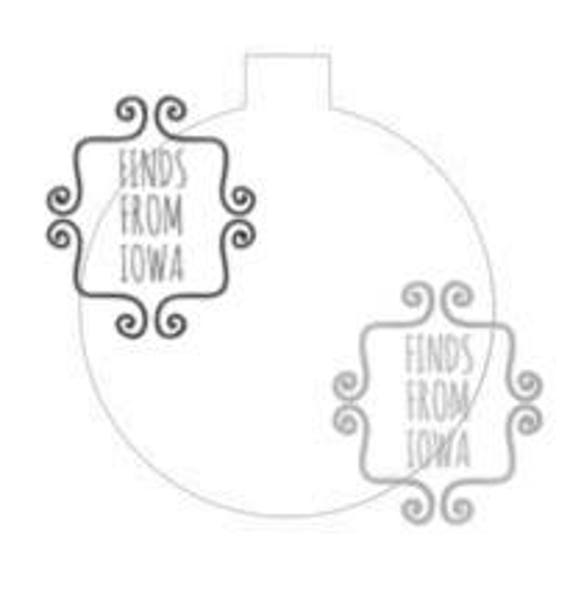 floating ornament template for inside 100mm ornaments cut file etsy