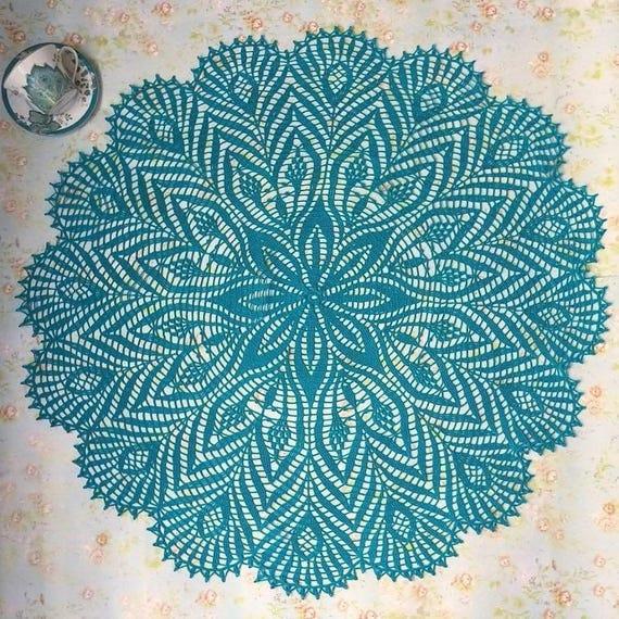 Crochet tapete plumas de pavo real de mantel tapete rara   Etsy