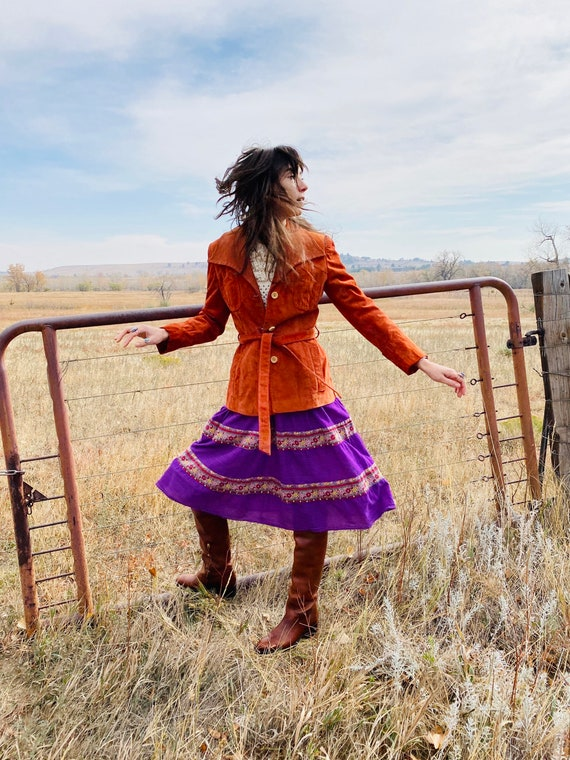 DEEP PURPLE PEASANT skirt | Indian cotton