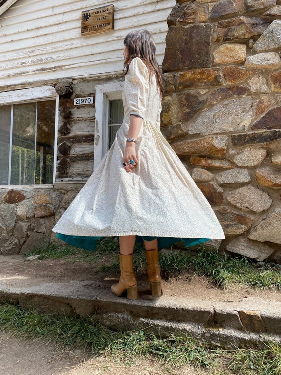 Little House on the Prairie Dress   vintage pearl… - image 4