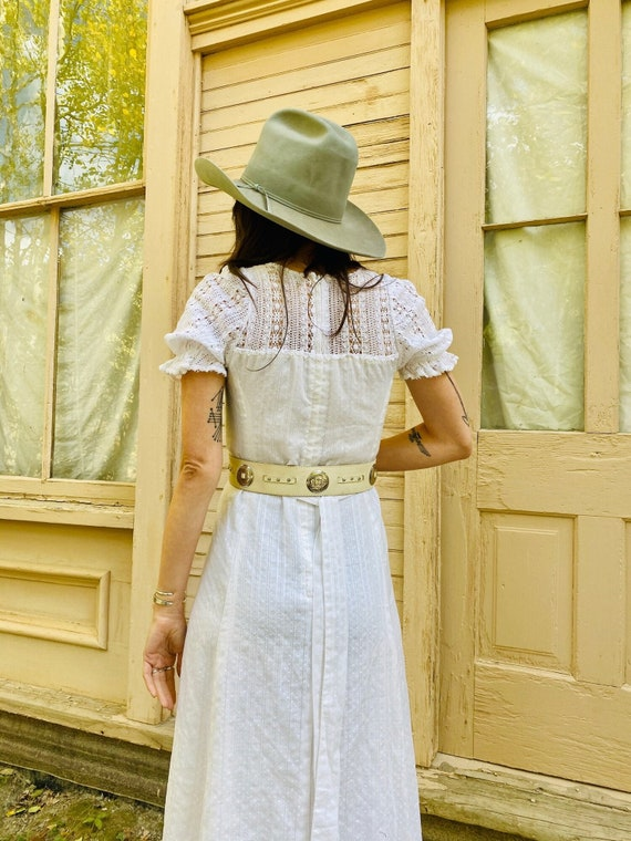 White Leather Outlaw Belt | concho western belt