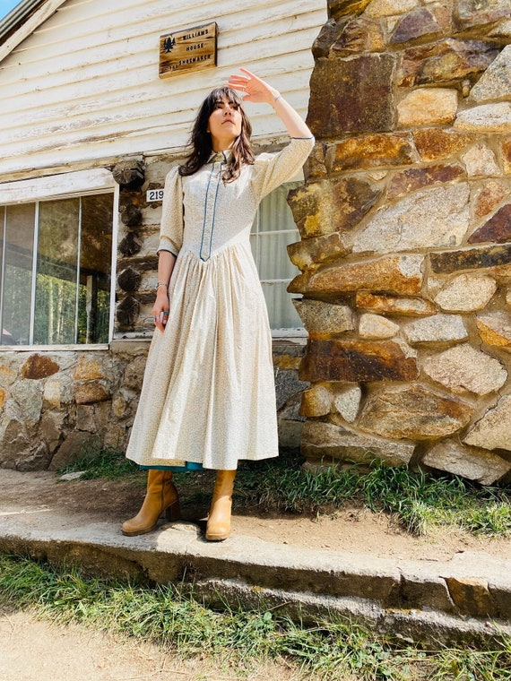 Little House on the Prairie Dress   vintage pearl… - image 7