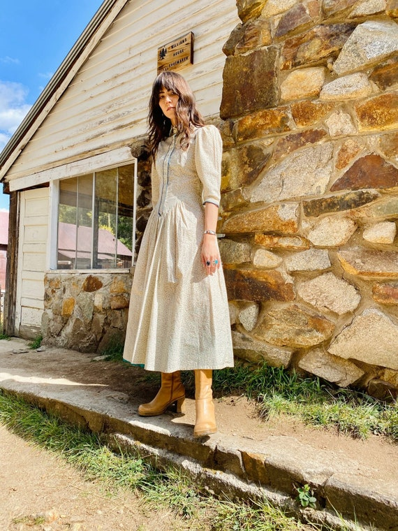 Little House on the Prairie Dress   vintage pearl… - image 8