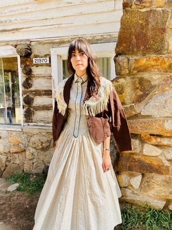 Little House on the Prairie Dress   vintage pearl… - image 5