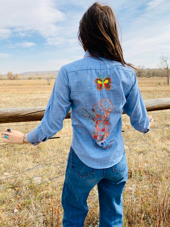 Prairie Girl Ranch Shirt | vintage embroidered cha