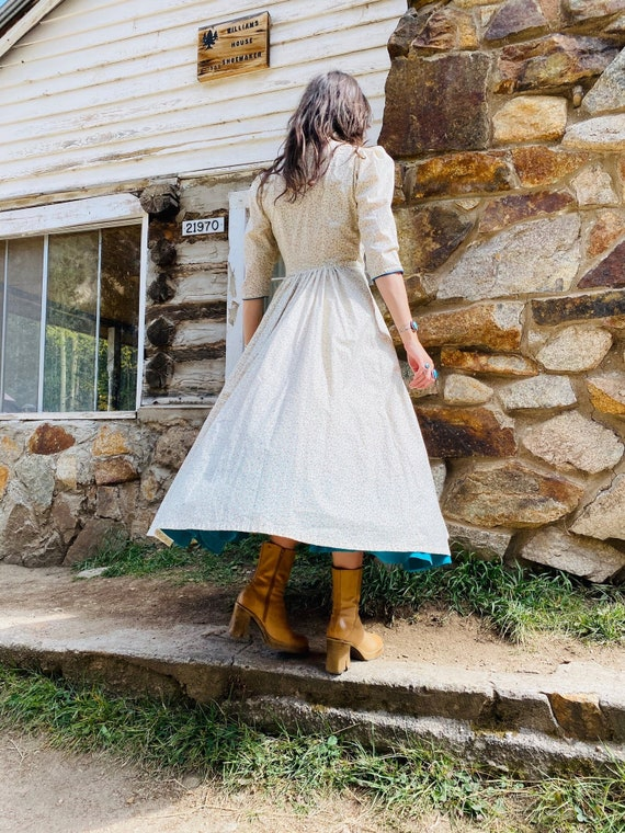 Little House on the Prairie Dress   vintage pearl… - image 3