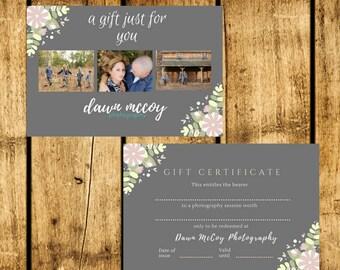 Custom Photography Gift Certificate 4x6 Digital Print