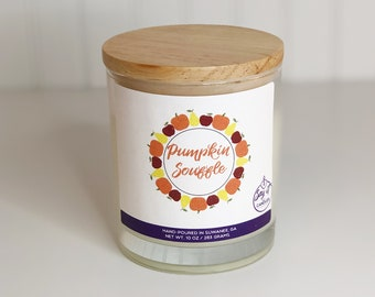 Pumpkin Soufflé Scented Candle, Wooden Wick Candle, Soy Blend Wax, Wood Wick, Best Friend Gift, Fall Scent, Housewarming, Pumpkin Spice