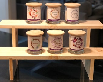 Deeper 2-Shelf Collapsible Shelf Display, Vendor Display, Craft Fair Shelf, 2-Tiered Shelf for Candles, Vendor Display Stand, Display Shelf