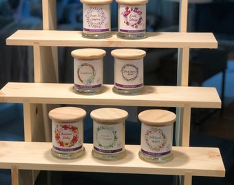 Deeper 4-Shelf Collapsible Shelf Display, Vendor Display, Craft Fair Shelf, 4-Tiered Shelf for Candles, Vendor Display Stand, Display Shelf