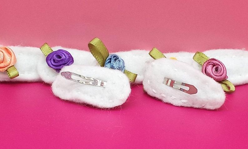 Hair Accessories Toddlers Barrettes Babies Mini Flower Non-Slip Felt Hair Clips