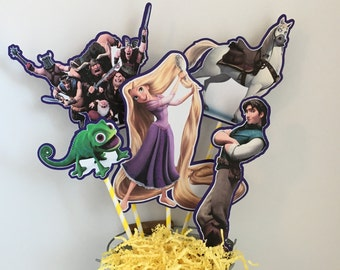 TANGLED Centerpiece Picks Set of 5 (DOUBLE-sided)/Cake Toppers / Birthday Party / Decorations / Supplies / Decor