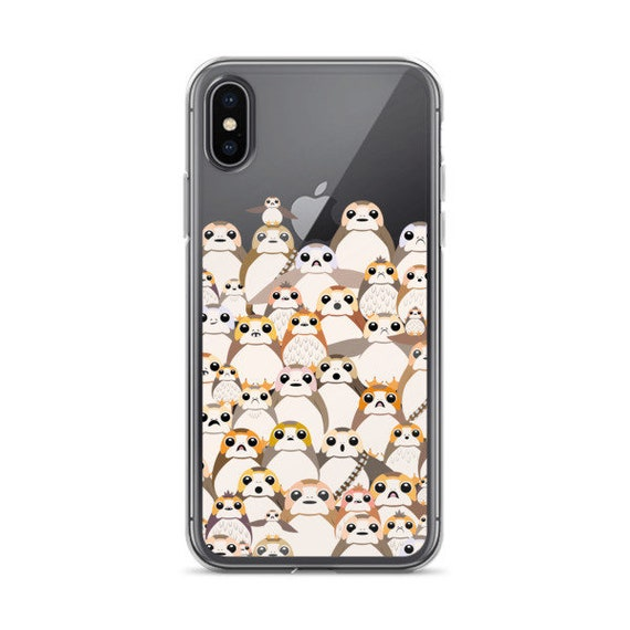 size 40 c0fb3 703d8 Porgs Phone Case, Porg Group Clear iPhone Case, Porgs Clear Samsung Case,  iPhone X, iPhone 8Plus, Galaxy S9+, iPhone 7, Galaxy S8, iPhone XS