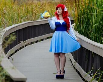 Disney's The Little Mermaid Dress Ariel's Human A-Line Skater Dress