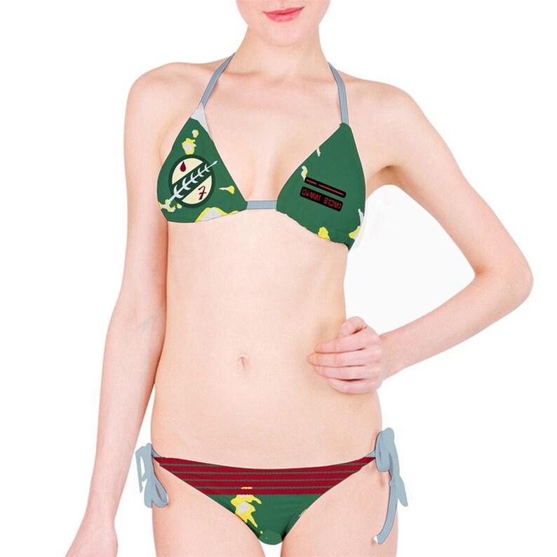 9b0f0e107a Star Wars Bikini Boba Fett Star Wars Cosplay Bikini Star | Etsy