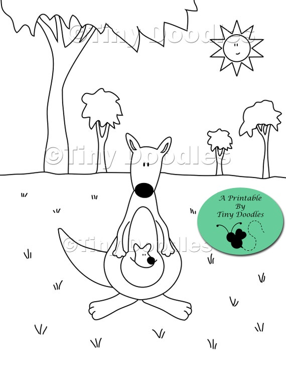 Kids Coloring Pages Kangaroo Zoo Animals Printable Pdf Colouring Pages Kids Printables Pdf Coloring Page Coloring Sheets Cute