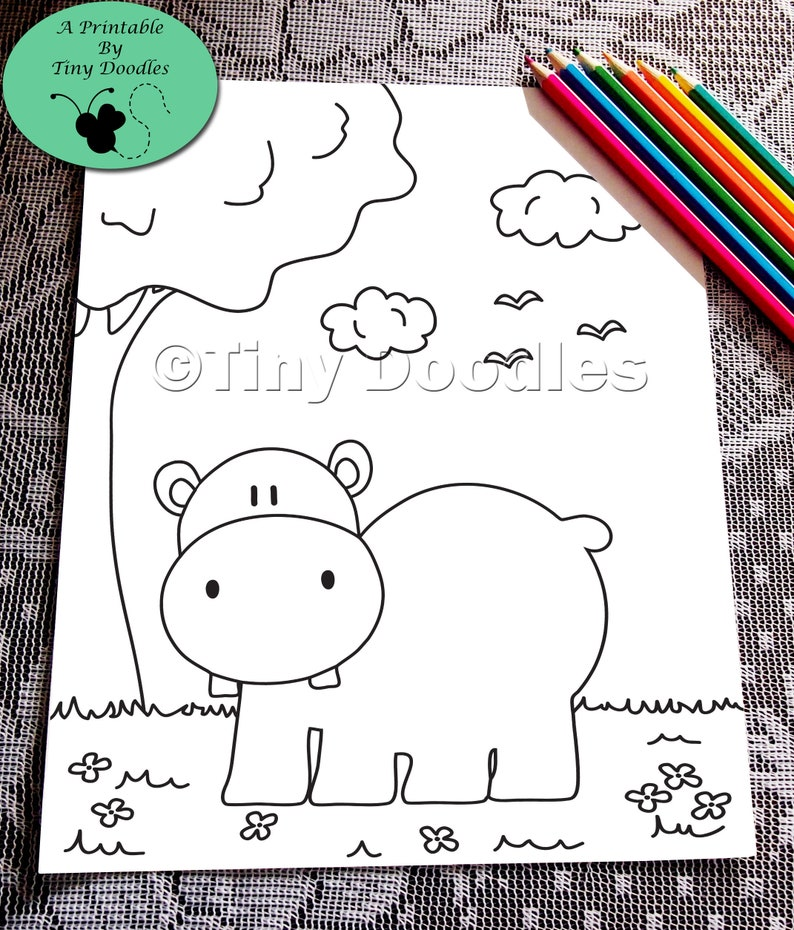 Cute Coloring Pages Hippo Kids Coloring Pages Pdf Colouring Pages Kids Printables Pdf Coloring Page Hippopotamus Coloring Sheets