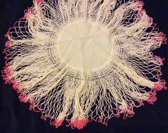 Vintage Pink Crochet Doily