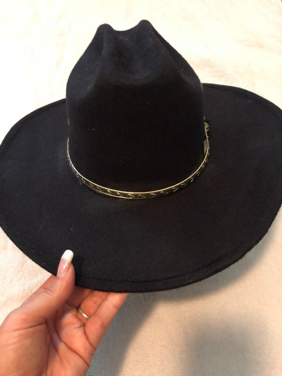 bf4a8bc0bc4d0 Western Express Black Cowboy Hat sz 7