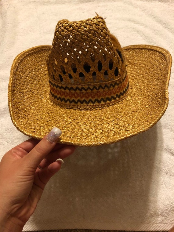 Straw Cowboy Hat - image 1