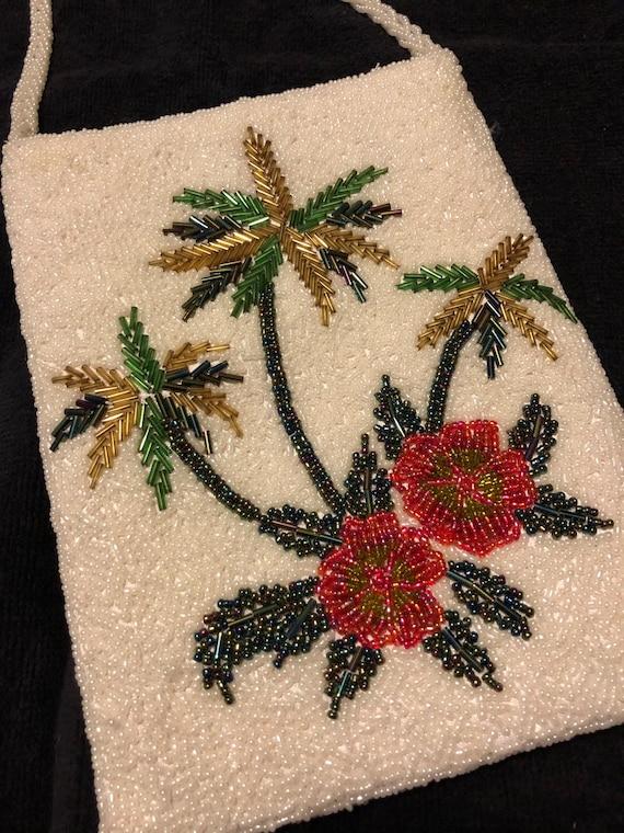 Tropical Beaded Bag