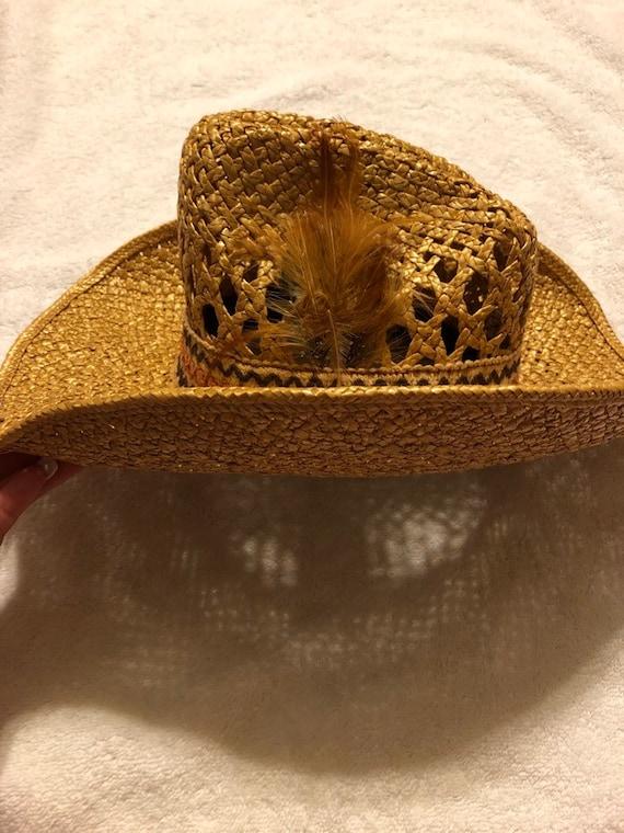 Straw Cowboy Hat - image 2