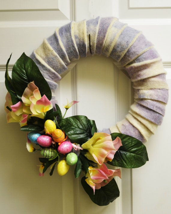 Beautiful Wreath Decoration For Easter Spring Season Etsy