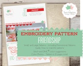 PYREX Embroidery Patterns (24 individual patterns) - Friendship Rooster Penn Dutch Red Birds Vintage Pyrex Inspired