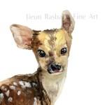 Dear Deer- instant download, printable art, watercolor, baby animal, deer, nursery art, wall art
