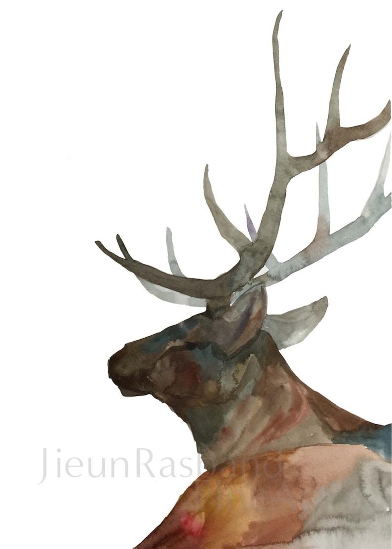 Elk the Elder  instant print printable art animal print image 0