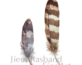 Feathers- Instant print, printable art,print art,nursery decor, wall art, watercolor