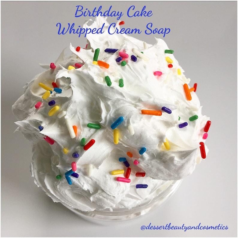 Birthday Cake Whipped Cream Soap