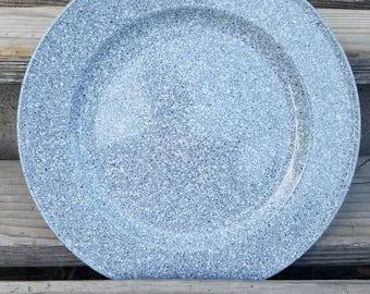 Ultrastone Country Blue by Mikasa Dinner Plate Blue Background White Specks L209