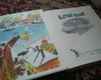 Little Toot (Book) by Hardie Gramatky, Hard cover children's book, illustrated childrens book
