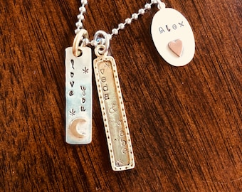 cdca65ad93 Close to my Heart, Love You to the Moon Personalized Necklace, Sterling  Silver