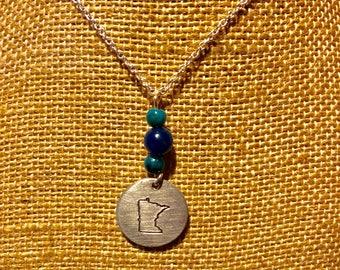 Beaded State Minnesota Necklace