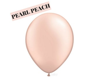 Pearl Peach balloons | 11 inch solid latex balloons