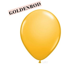 Goldenrod balloons | 11 inch solid latex balloons