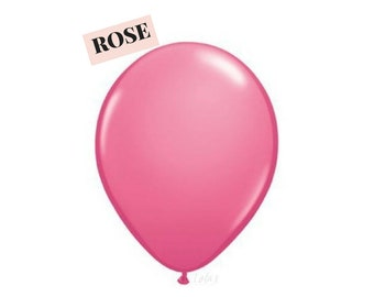 Rose balloons | 11 inch solid latex balloons