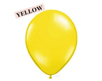 Yellow balloons | 11 inch solid latex balloons