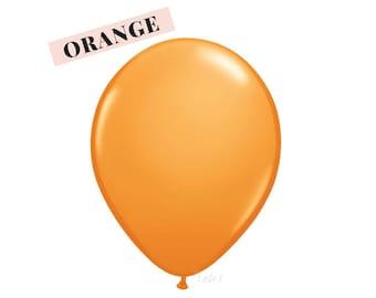 Orange balloons | 11 inch solid latex balloons