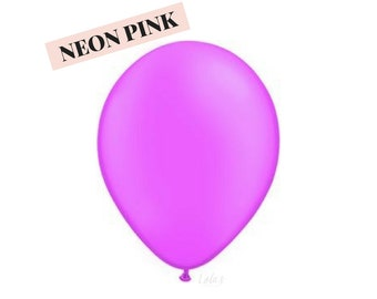 Neon Pink balloons | 11 inch solid latex balloons
