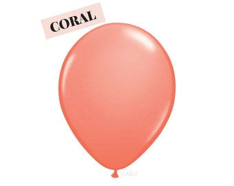 Coral balloons | 11 inch solid latex balloons