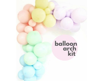 Balloon Garland PASTEL kit   DIY Balloon Arch